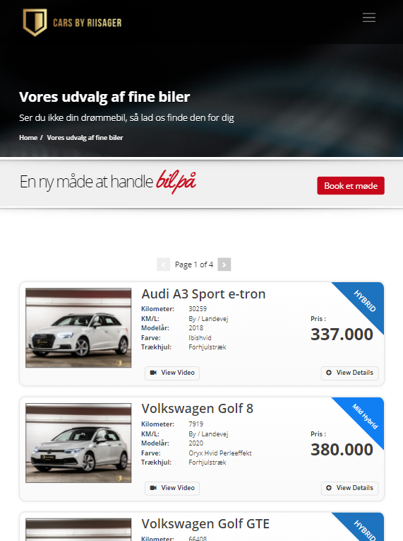 Cars by riisager hjemmeside