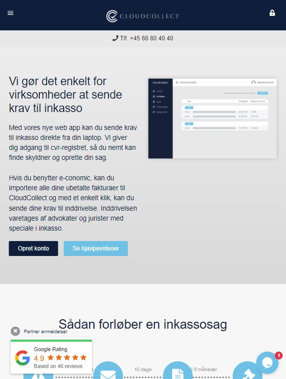 Cloudcollect er responsiv